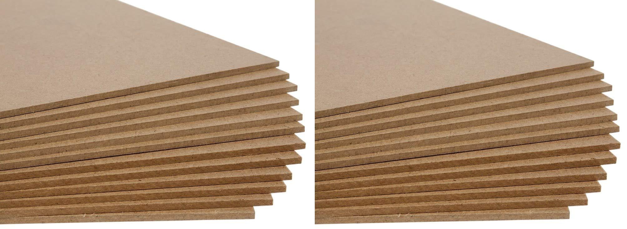 Jack Richeson Medium Density Untempered Hardboard(12 pack), 8x10 (Twо Pаck)