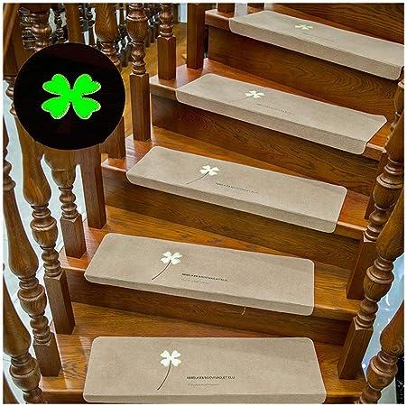 ZENGAI Alfombra de la Escalera Alfombra Luminosa Escalera peldaños tapetes Autoadhesivo sin Pegamento Alfombras Antideslizantes for escaleras de Piso Almohadillas Protectoras, Trébol de Cuatro Hojas,: Amazon.es: Hogar