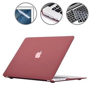 cubierta del teclado i-Buy Mate Caso de Shell duro - oro rosa Protector de pantalla enchufe del polvo para Apple Macbook Pro 13 pulgadas con Retina Display Modelo A1502 A1425
