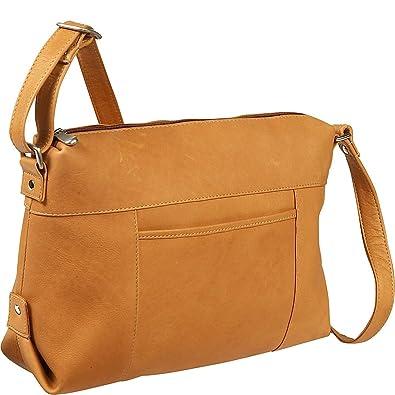 Le Donne Leather Top Zip Front Slip Shoulder Bag (Tan)  Handbags ... a4672723741b8