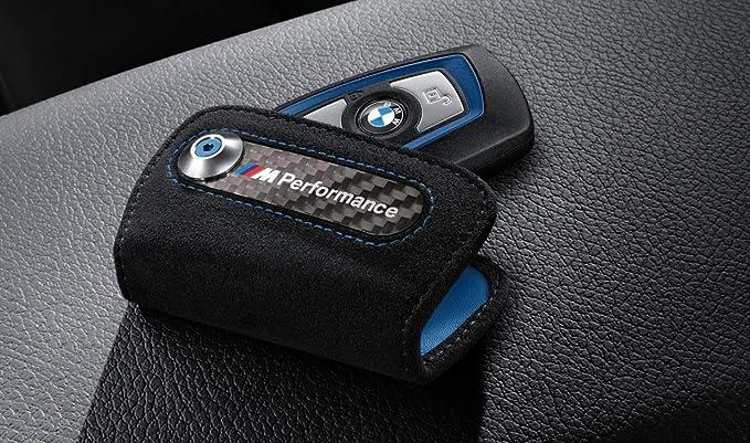 Genuine BMW M Performance Alcantara Key Fob Holder Bag Carbon Cover