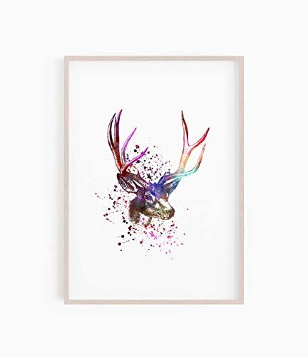 Amazon com: Stag Print, Stag Poster, Stag Wall Art, Scottish