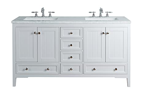 60 Inch White Bathroom Vanity.Stufurhome Hd 1616w 60 Cr New Yorker 60 Inches White Double