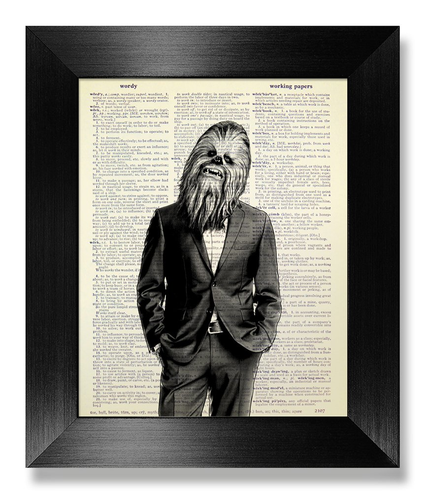 Chewbacca Star Wars Wall Art Decor, Cool Stuff for You, Funny Office Gift for Man Husband Boyfriend, Kids Room Decor, Teen Boy Gift, Office Wall Decor, Bathroom Decoration Wall Art Poster Print