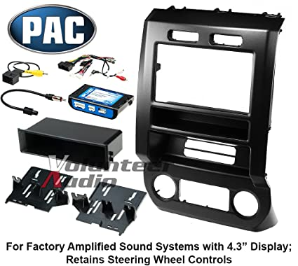 amazon com: pac audio integrated installation kit 2015-2017 ford f150 and  f250: automotive