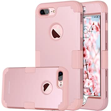 55c0cee3938 BENTOBEN Funda iPhone 7 Plus, Funda iPhone 8 Plus Original, 3 en 1 PC  Híbrido y ...