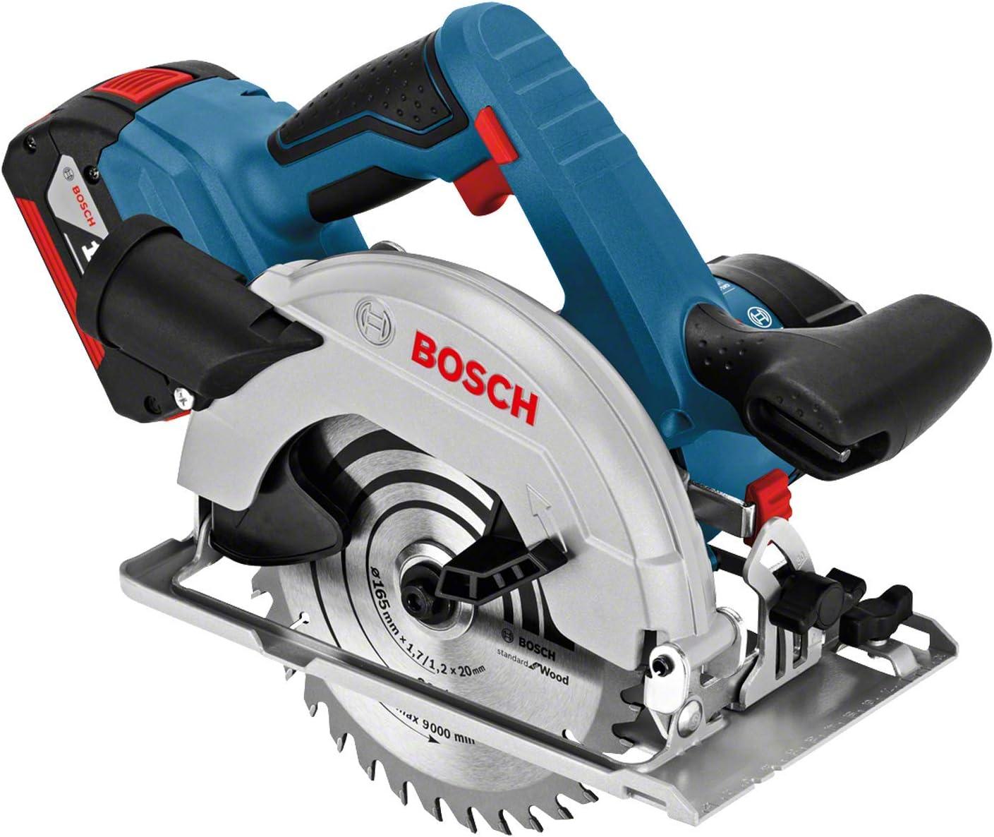Bosch Professional GKS 18V-57 G Sierra circular 2 bater/ías x 4.0 Ah disco di/ámetro 165 mm 18 V en L-BOXX