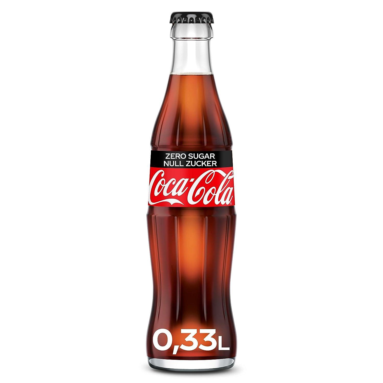 coca cola zero glasflaska