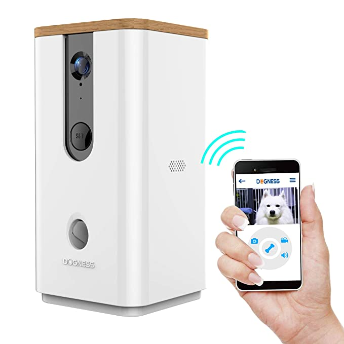 Dogness Pet Treat Dispenser With Camera, Monitor Your Pet Remotely With Hd Video, Two Way Audio, Night Vision, For Dogs And Cats by Dogness