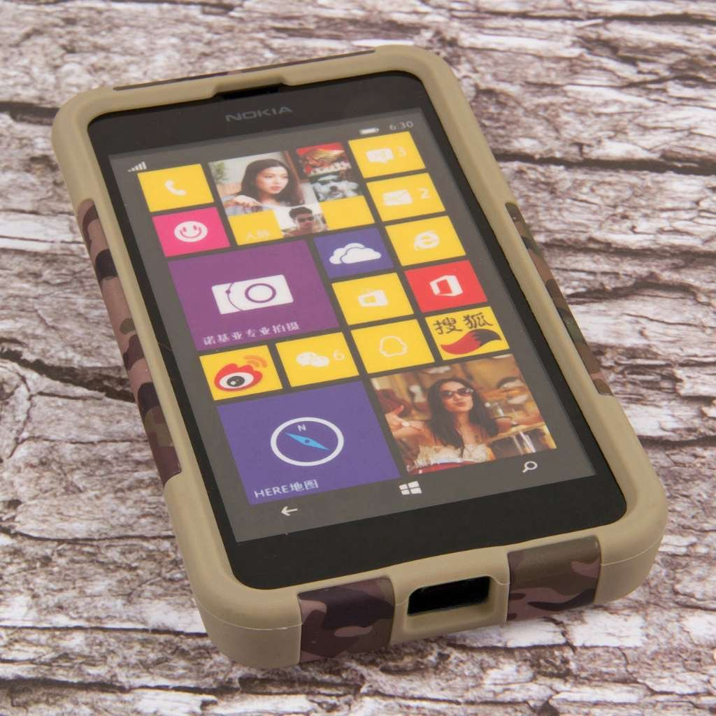 Nokia Lumia 635 Case, MPERO IMPACT X Series Dual Layered Tough Durable Shock Absorbing Silicone Polycarbonate Hybrid Kickstand Case for Lumia 635 ...