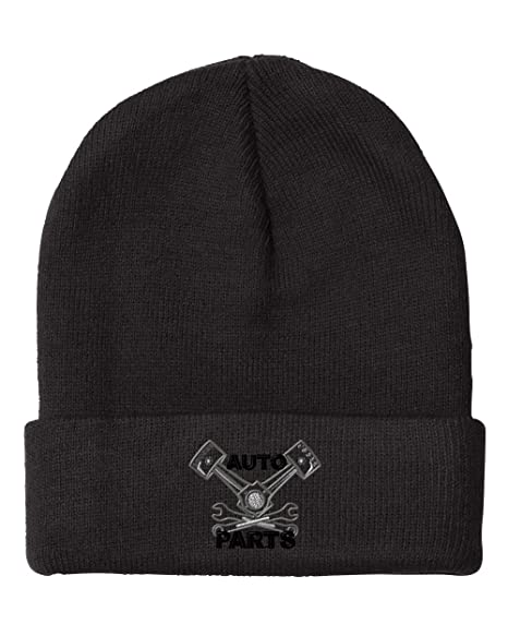 50d8f7b4646 Image Unavailable. Image not available for. Color  Vintage Piston Sign  Mechanic Embroidered Unisex Adult Acrylic Beanie Winter Hat - Black
