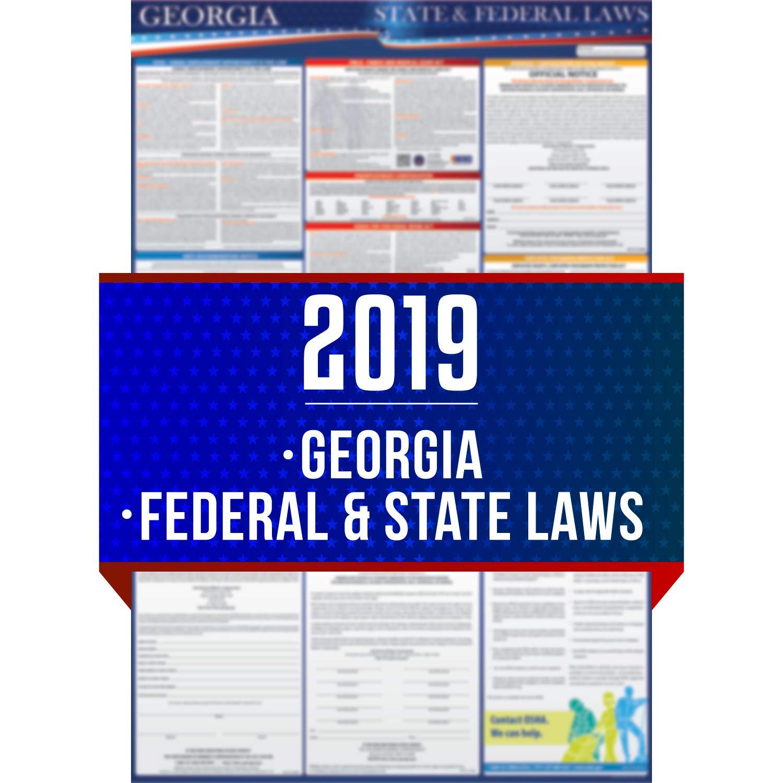 Amazon 2019 Georgia State And Federal Labor Laws Poster Osha
