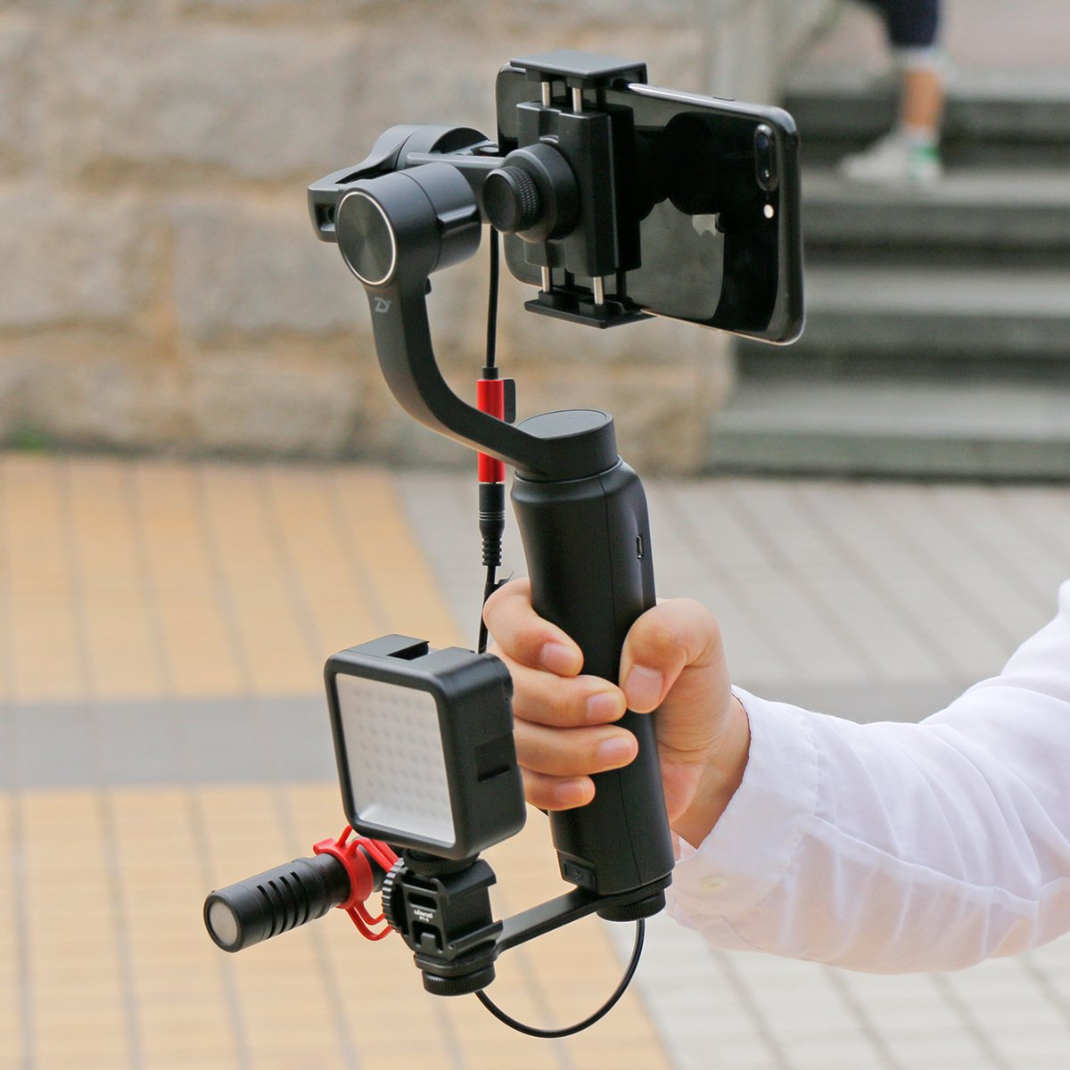 2x Ulanzi PT-3 triple frío Shoe Mount Soporte de extensión de luz de vídeo LED de micrófono