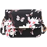 Acereima Luxury Women Bags Design Small Satchel Women bag Flower Butterfly Printed PU Leather Shoulder Bag