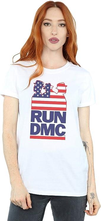 Run DMC Mujer USA Silhouette Camiseta del Novio Fit: Amazon.es: Ropa y accesorios