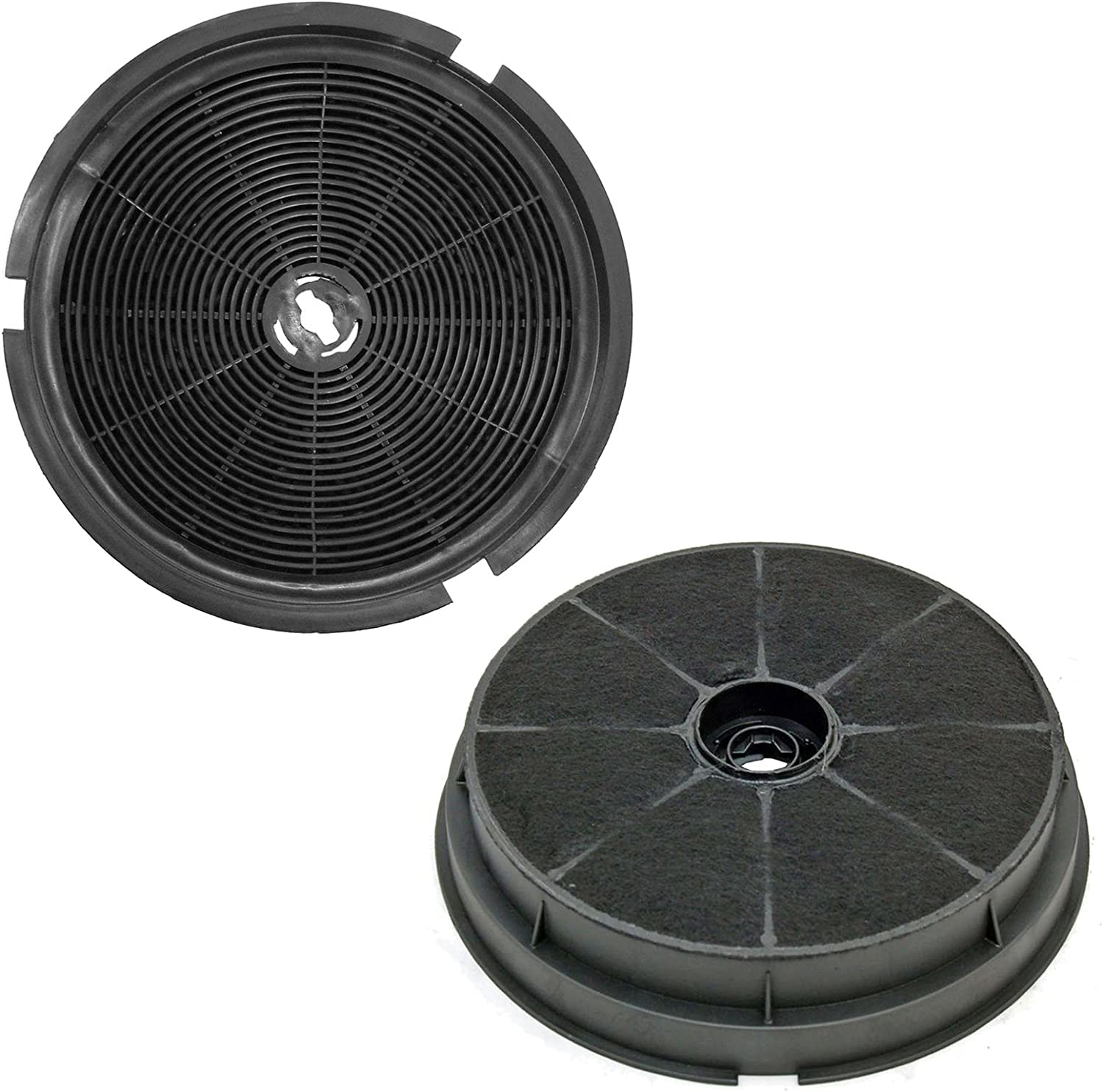 SPARES2GO Carbon Charcoal Vent Filters for Leisure 1K2BP H100PK CA1K2BP cm Cooker Extractor Hoods Pack of 2