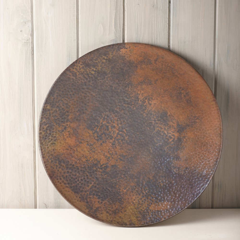 Native Trails 30-Inch Copper Lazy Susan, Tempered Finish