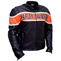 Perfect Colors Harley Davidson Men's Victory Lane Black Leather Jacket