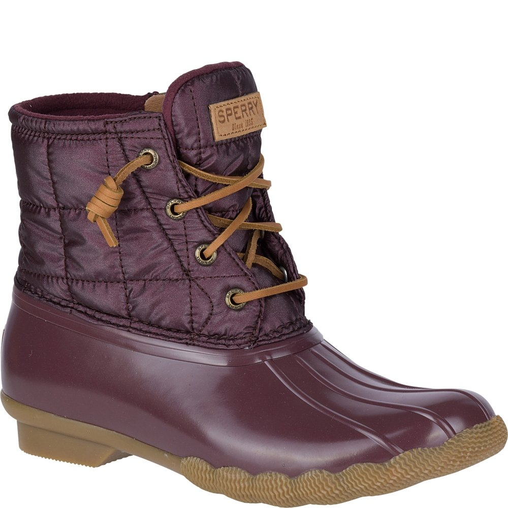 Sperry Top-Sider Women's Saltwater Shiny Quilted Rain Boot B01N0SYQDJ 7.5 B(M) US|Grape