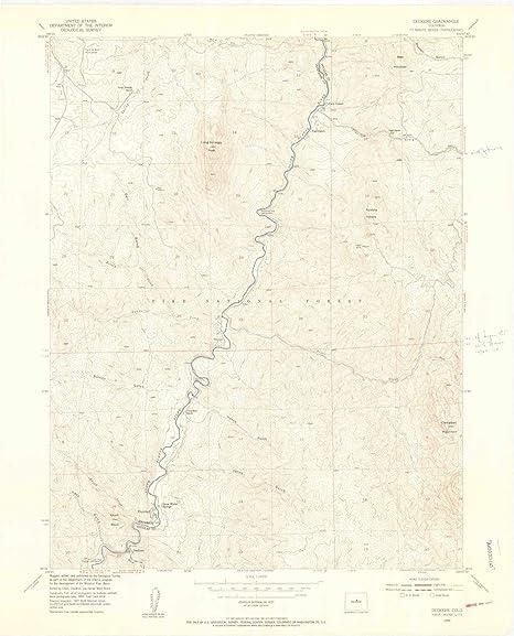 Deckers Colorado Map.Amazon Com Yellowmaps Deckers Co Topo Map 1 24000 Scale 7 5 X