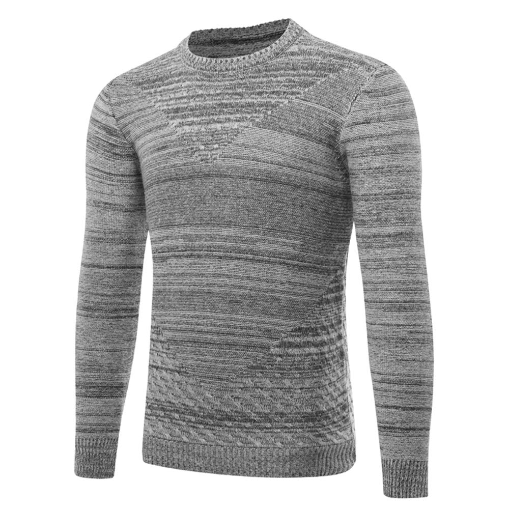 carmonoudi Men's Knitwear Foreign Trade 3D Hollow Pullover Sweater (X-Large, Grey) by carmonoudi