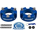 "Supreme Suspensions - Toyota Tacoma Lift Kit 2"" Front Lift Aircraft Billet Strut Spacers (Blue)"