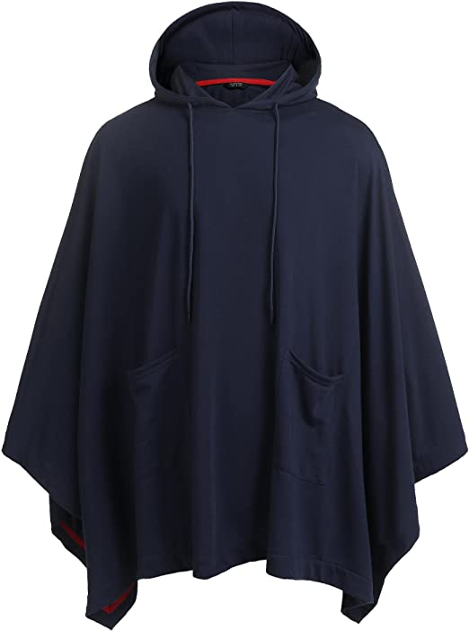 TALLA S. JINIDU - Poncho con capucha unisex con bolsillo