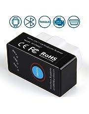 INTEY OBD2 - Dispositivo de diagnóstico OBD y Adaptador Bluetooth OBD-2, Compatible con vehículos de Gasolina con protocolos OBD 2 a Partir de 2001