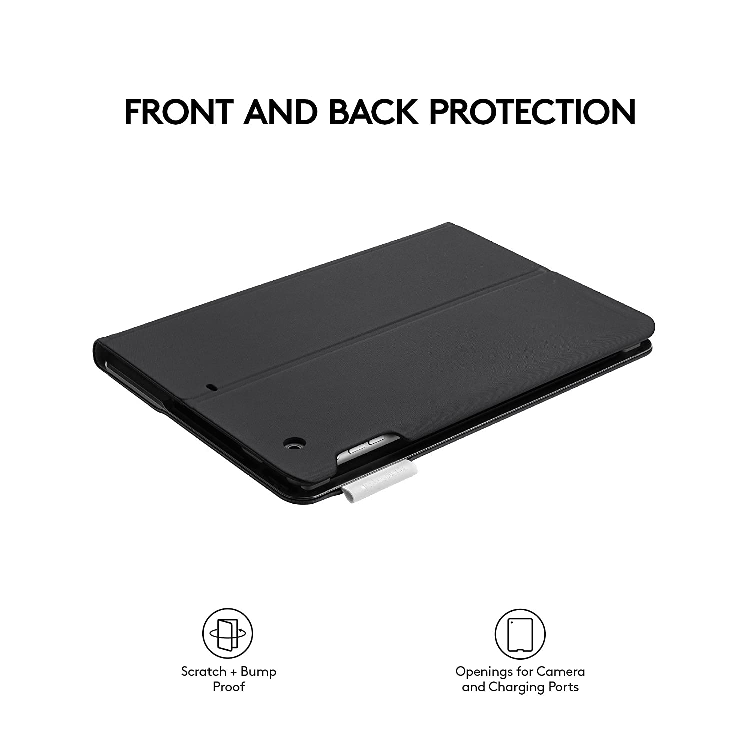 Smooth Surface 920-006912 Logitech Type+ Protective Case with Integrated Keyboard for iPad Air 2 ONLY! - Black