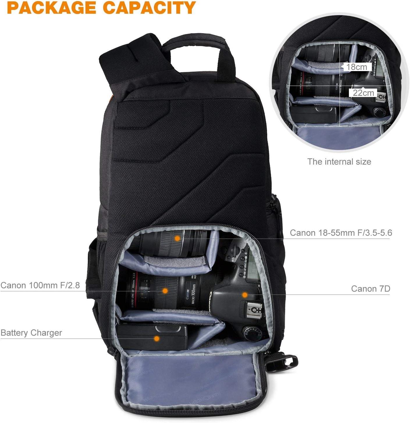 K&F Concept - Bolso Bandolera para Cámara DSLR Canon Sony Nikon ...