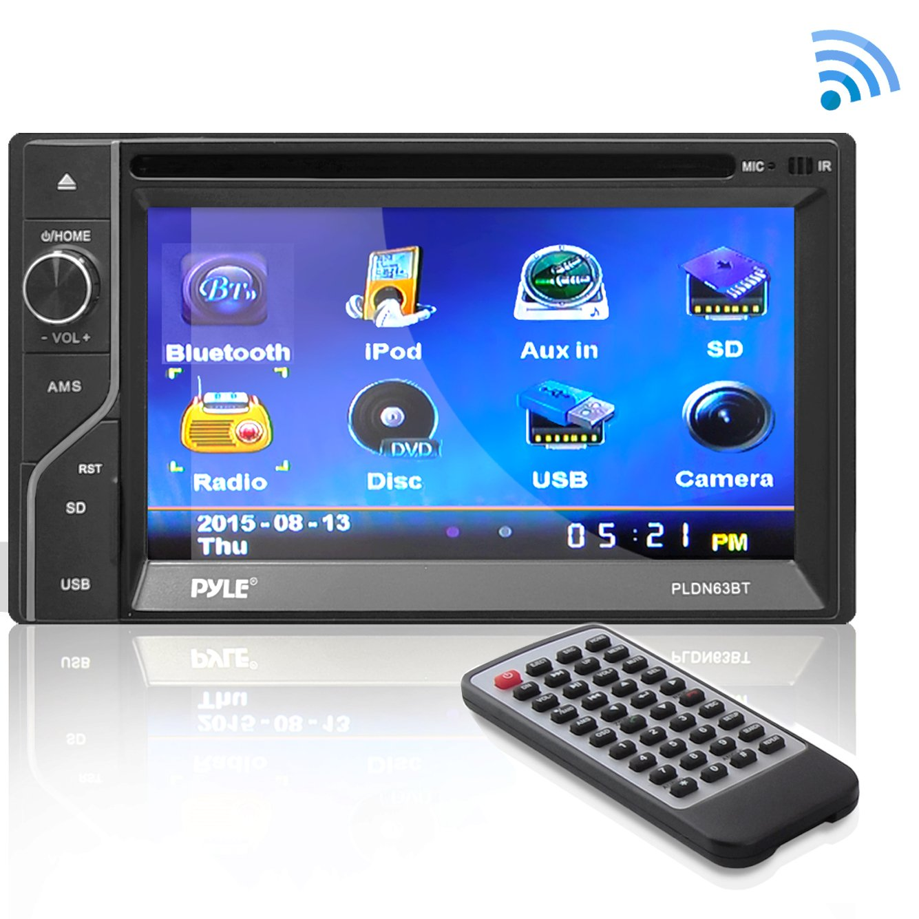 Pyle AZPLDN63BT 6.5'' Double DIN In-Dash touch Screen TFT/LCD Monitor