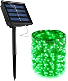 Dolucky Solar Powered String Lights, 72FT 200 LED Green Solar Fairy Lights, 8 Modes Waterproof Copper Wire Solar…
