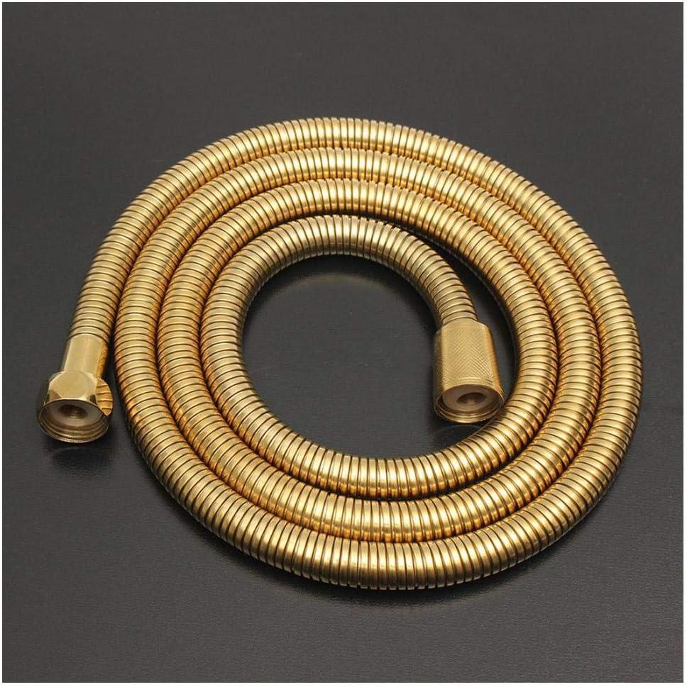 Tuyau de pommeau de douche en or de 1,5 m Type de longue spirale Flexible en acier inoxydable Salle de bains Tube deau Tube de plomberie Tuyaux-1 M