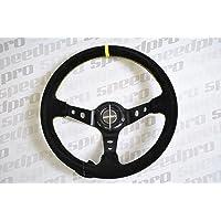 Volante Desplazado Tipo Rally Racing Negro - Speedpro