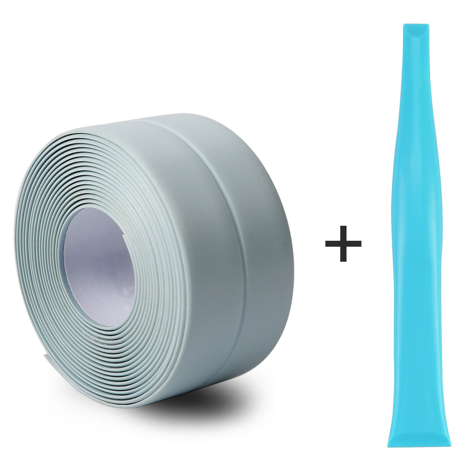Silicone Caulk Strip,PVC Strong Self Adhesive Tub Sink Wall Sealing Caulk tape 1-1/'' x11 Blue by Oumers