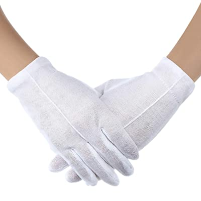 3 Pairs White Child Costume Gloves Formal Kids Size Wrist Gloves Set for Boys and Girls Party Wedding Formal Pageant: Toys & Games