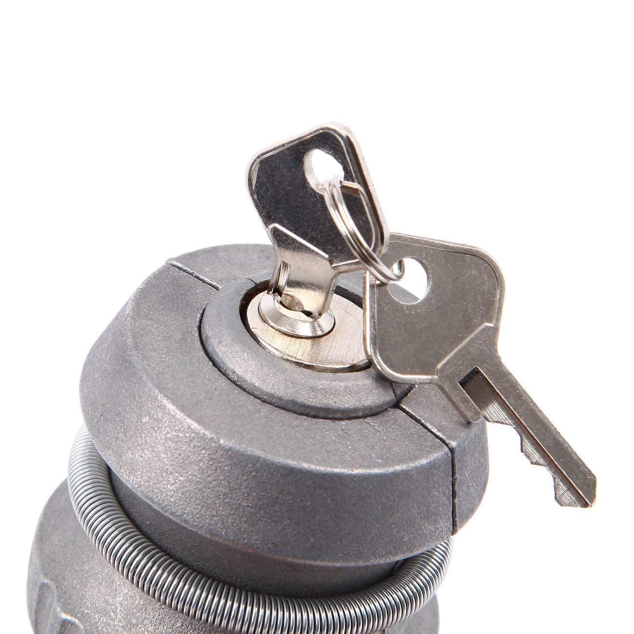 Security Anti-Theft Trailer Hitch Lock 50mm Dia Ball Coupling Universal Tow Ball Padlock Lock Zinc Alloy Caravan Lock for Caravan Trailer Silver