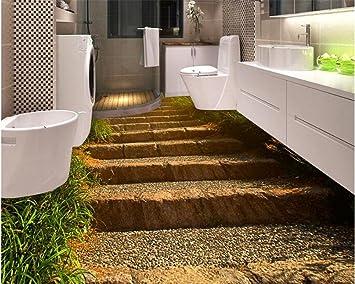 3d Fußboden Badezimmer Preise ~ Hohe qualität wasserdichte tapete steintreppe gehweg badezimmer