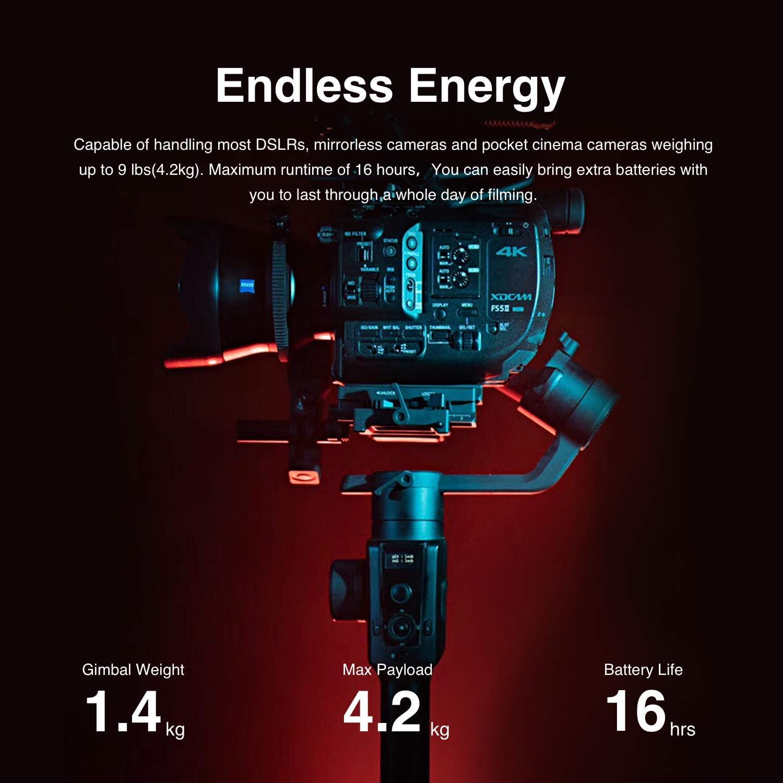 MOZA Aircross 2 Estabilizador con iFocus-M Motor de 3 Ejes card/án port/átil 8 SIGA Modos hasta 7.1Lbs para Las c/ámaras sin Espejo