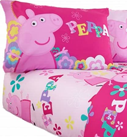 Amazon Com Peppa Pig Twin Sheet Set Home Kitchen