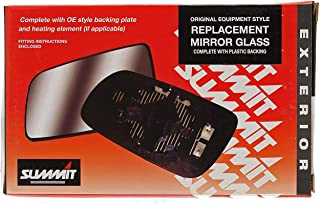 Summit Replacement Mirror Glass With Backing Plate (Fits on lhs of vehicle)