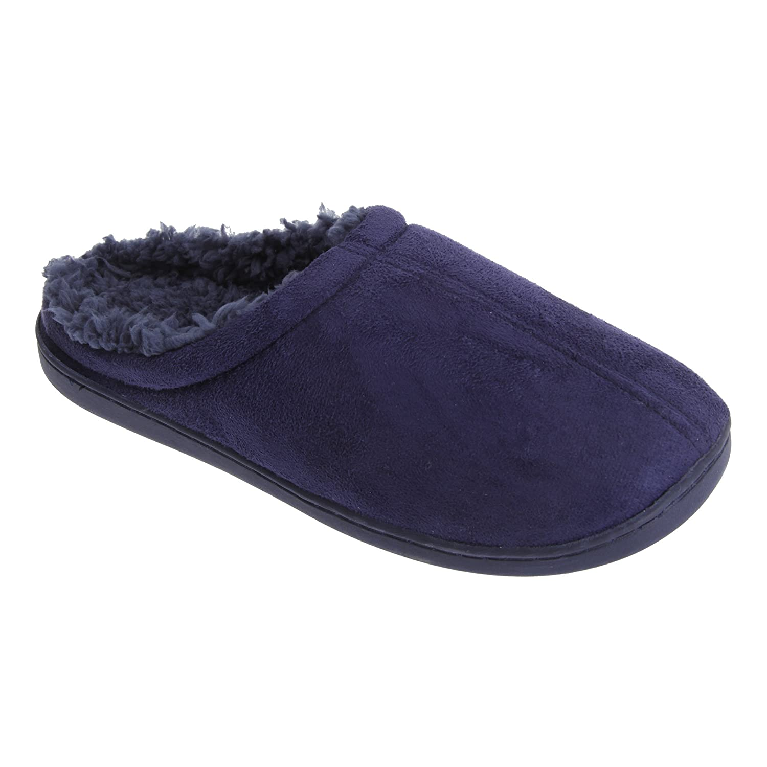 Amazon.com | Universal Textiles Mens Luxury Feel Memory Foam Slip On Slippers | Slippers
