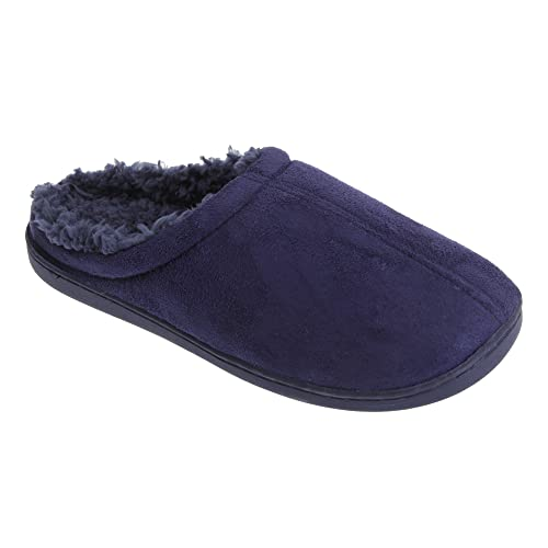 Universal Textiles - Zapatillas de Estar por casa para Hombre, Color Azul, Talla 45