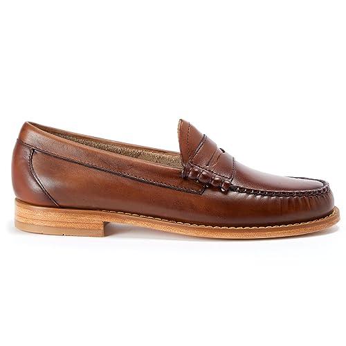 G.H. Bass - Mocasines para Hombre Marrón Gris Oscuro/Dorado 300x420mm: Amazon.es: Zapatos y complementos