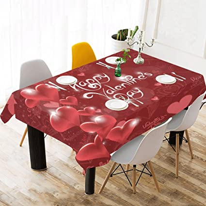 Amazon Com Interestprint Tablecloth Happy Valentine S Day Red Home