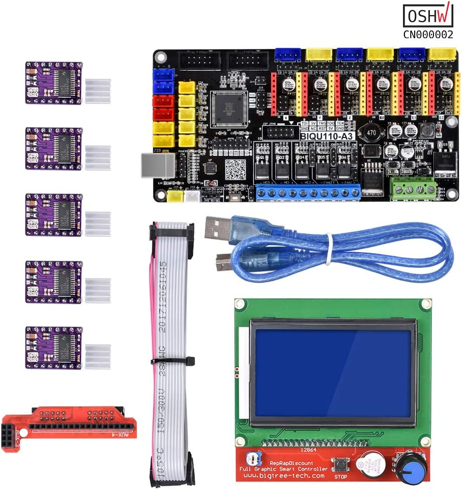 WitBot Open Source Tango V1.0 Upgrade Rumba 3D Printer Motherboard with TMC2130//A4988//DRV8825 Driver for 12864 LCD for Reprap Mendel