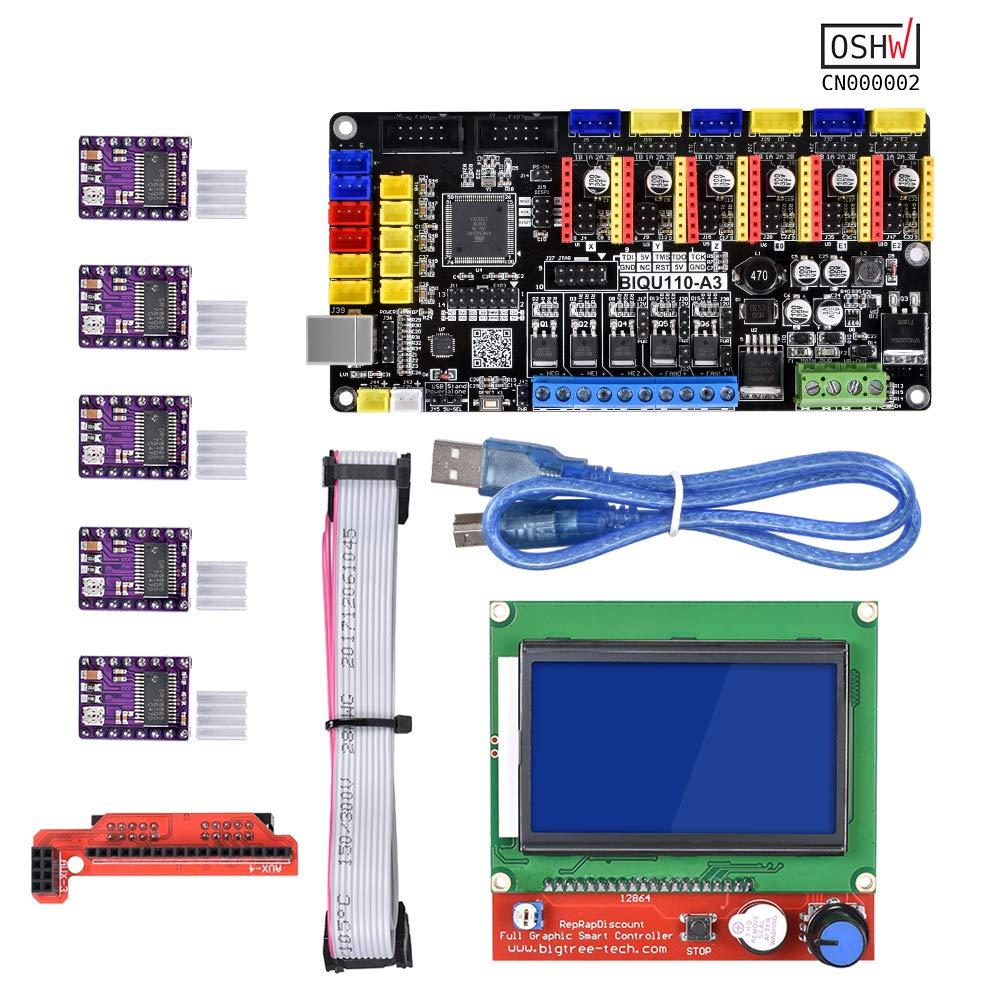 WitBot Open Source Tango V1.0 Upgrade Rumba 3D Printer Motherboard with TMC2130/A4988/DRV8825 Driver for 12864 LCD for Reprap Mendel