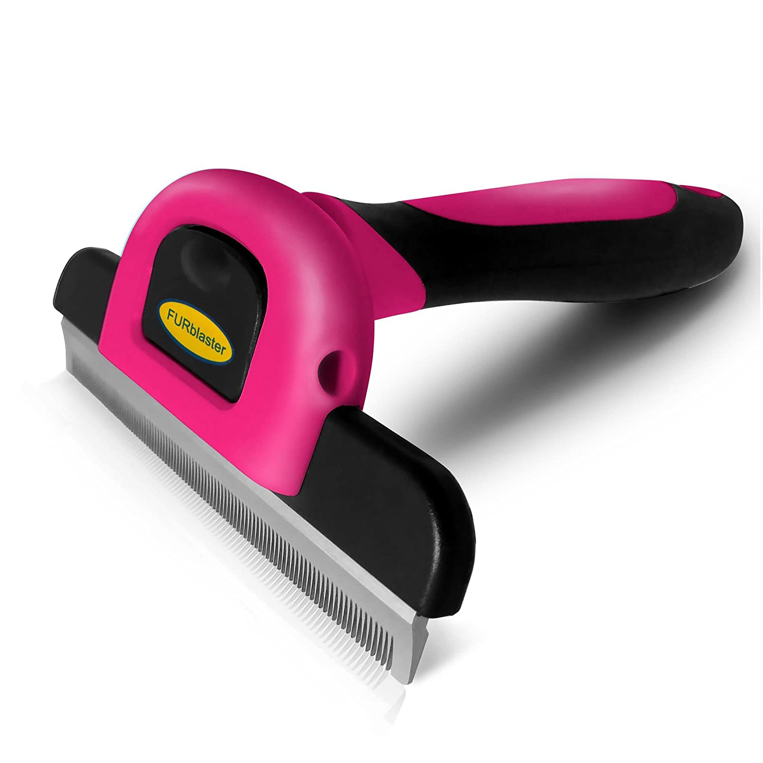 DakPets Deshedding Brush-Dog Hair & Cat Hair Shedding Tool-Effective Grooming Tool for Cats Dogs with Short Medium Long Fur-Reduces Pet Hair Shed by Up to 95%