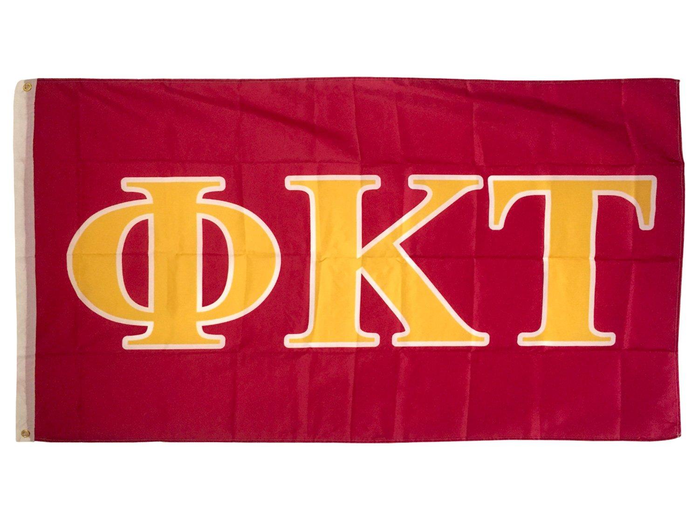 Desert Cactus Phi Kappa Tau Letter Fraternity Flag Greek Letter Use as a Banner Large 3 x 5 Feet Sign Decor by Desert Cactus