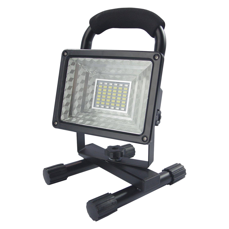 eTopLighting LED Portable Rechargeable Flood Light 30 Watt Energy efficient, Emergency Flashers (SOS) 3 adjustable light brightness settings & 2 Outer 5 Volt USB ports, IP65 Protection Rating, AVC1356